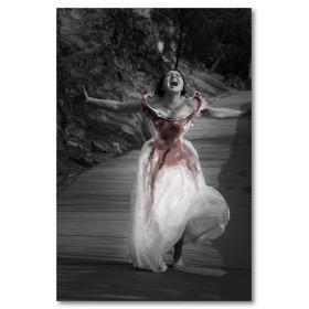 Αφίσα (αίμα, μαύρο, λευκό, άσπρο, νύμφη)